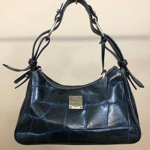 Dooney and Bourke Blue Harrison Croc Bag